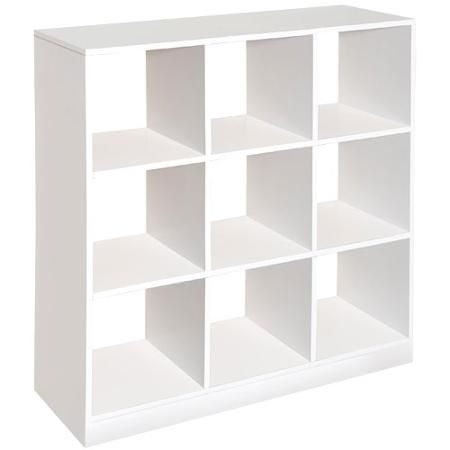 $80 Badger Basket - 9 Cubby Storage Unit, White