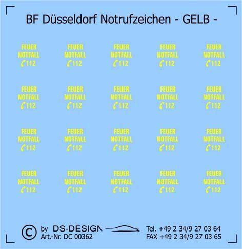 Düsseldorf, Feuerwehr, Notruf, 112, DC00362, Feuerwehr Düsseldorf, FW Düsseldorf, Notrufzeichen,