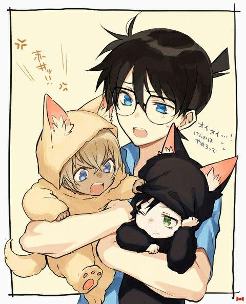 Detective Conan_ Tooru Amuro , Shinichi and Shuichi Akai