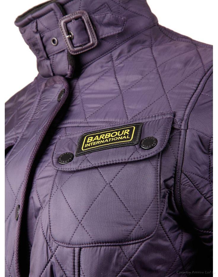 Barbour Ladies' International Polarquilt Jacket - Purple LQU0062PU71 (L804) | Country Attire