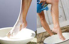 Do nádoby vložila mlieko s práškom na pečenie a následne si do nej namočila nohy. Výsledok je neuveriteľný! | Chillin.sk