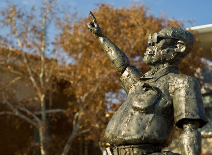 Bull Rider by Willie Bester at Kovsies Campus.  Photograph by Martie Venter