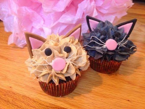Really cut Cat Cupcakes tutorial