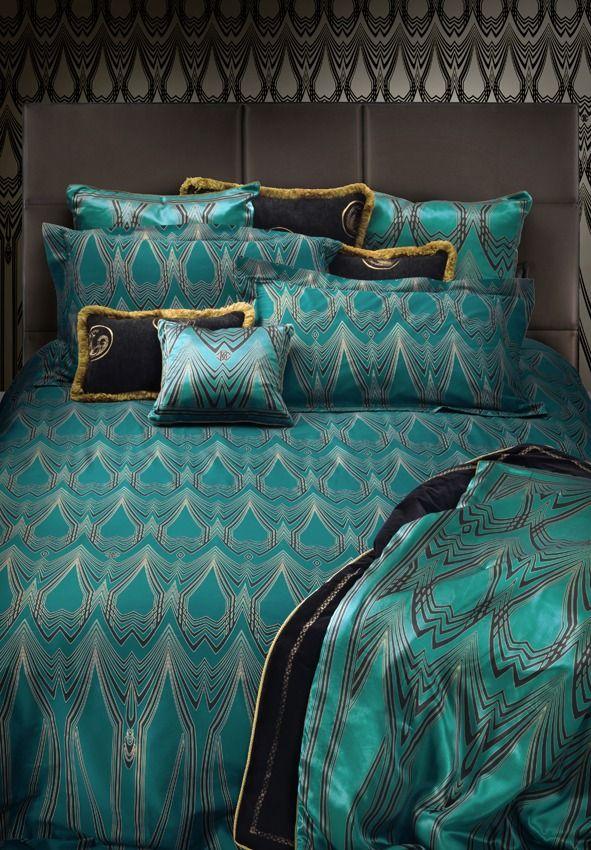 Deco Duvet Cover Blue Green Set King Imperial Interiors Luxury Bedding Art Bedroom