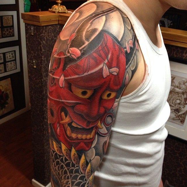 093a60b4a #anders#hannya#dragon#tattoo#holmsund#color | Tattooing | Japanese tattoo  sleeve samurai, Samurai tattoo sleeve, Japan tattoo