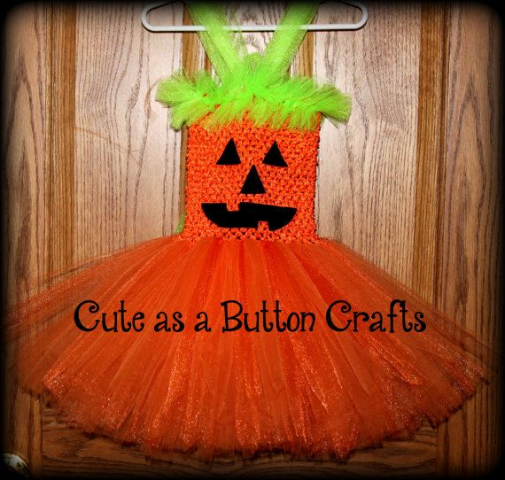 Adorable infant toddler pumpkin tutu dress