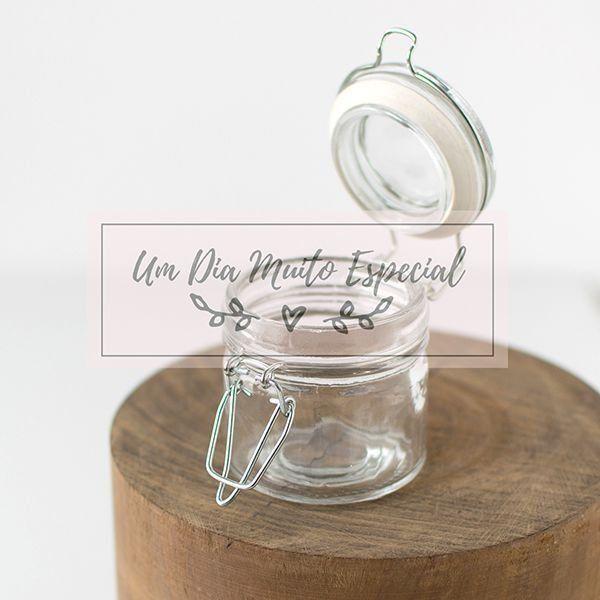 pote hermético vidro lembrancinha casamento noivado aniversário festa chá de bebê - Lembrancinhas e Decoração Romântica para Festas   Um Dia Muito Especial