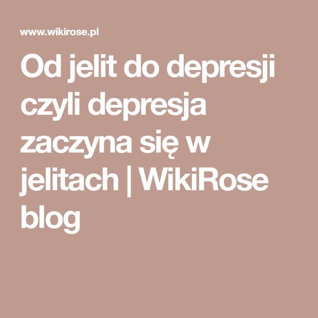 Od jelit do depresji czyli depresja zaczyna się w jelitach | WikiRose blog