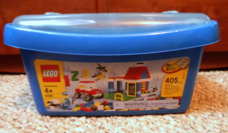 LEGO 6166 Large Brick Box 405 Pieces Ultimate Building Set RETIRED w/ manuals…