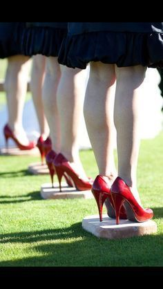 Great idea for outdoor weddings! Have standing stones for the bridesmaids so their heels don't sink into the ground!!!