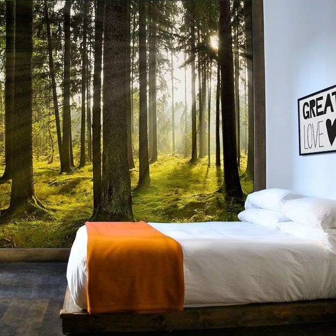 17 beste idee u00ebn over Bos Kamer op Pinterest   Bos slaapkamer, Bos thema slaapkamers en Boom