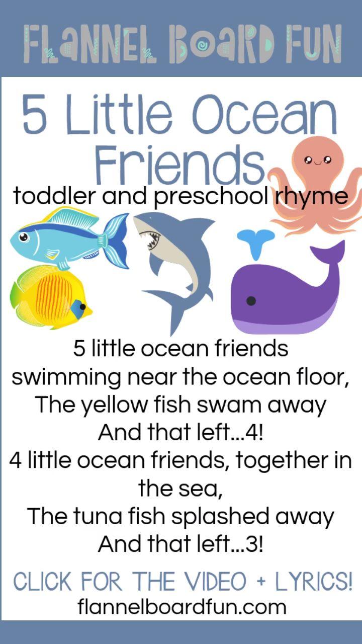 Great Little Rhyme For Your Ocean Or Beach Theme Teaches Colors