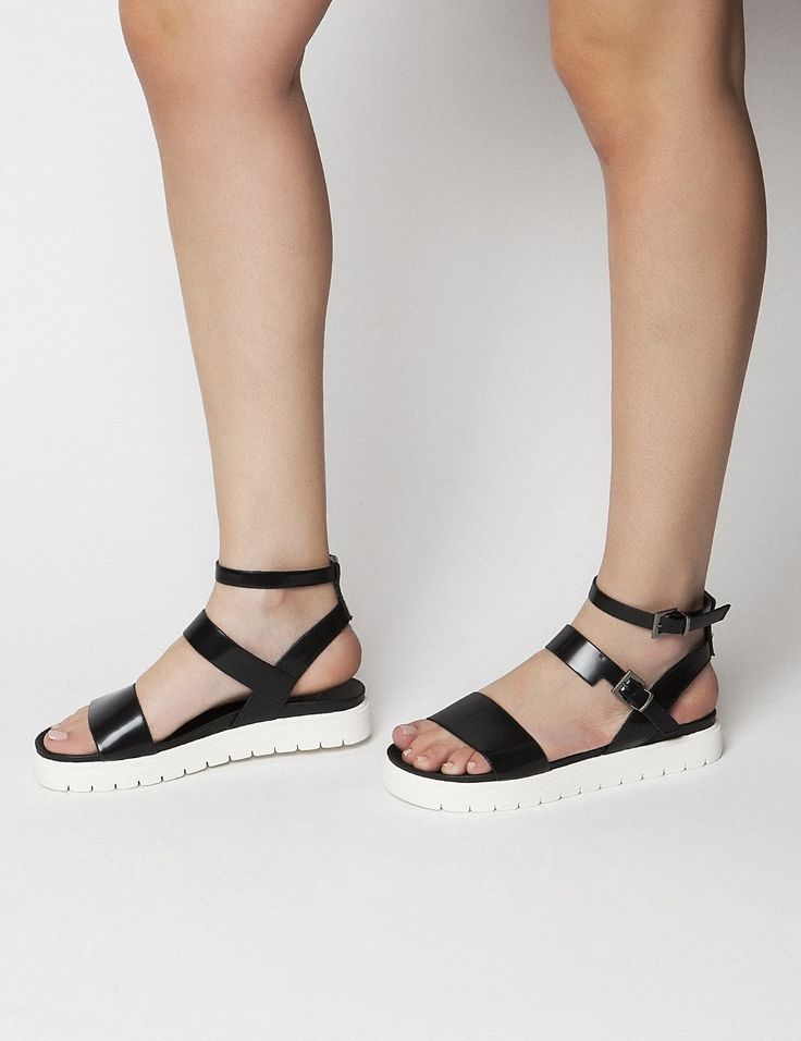 Eufrat Black Sandals S/S 2015 #Fred #keepfred #shoes #collection #leather #fashion #style #new #women #trends #black #sandals #white