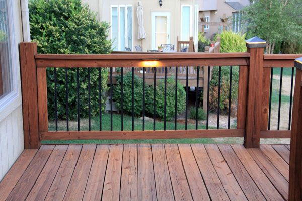 Lighting For Deck Railings Led Under Railing Deck Lights