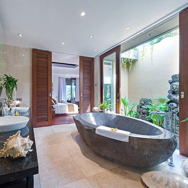 Door Solution For Open Master Bathroom: 17 Best Images About Balinese Bathroom Ideas On Pinterest