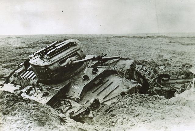 Valentine Mk II tank - Destroyed