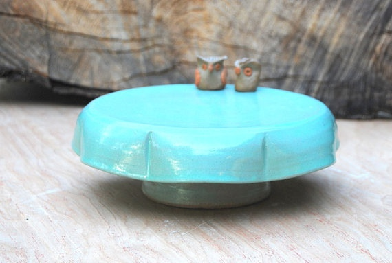 cute cake stand  claylicious: Cute Cakes, Cake Stands, Owl, Cakes Stands