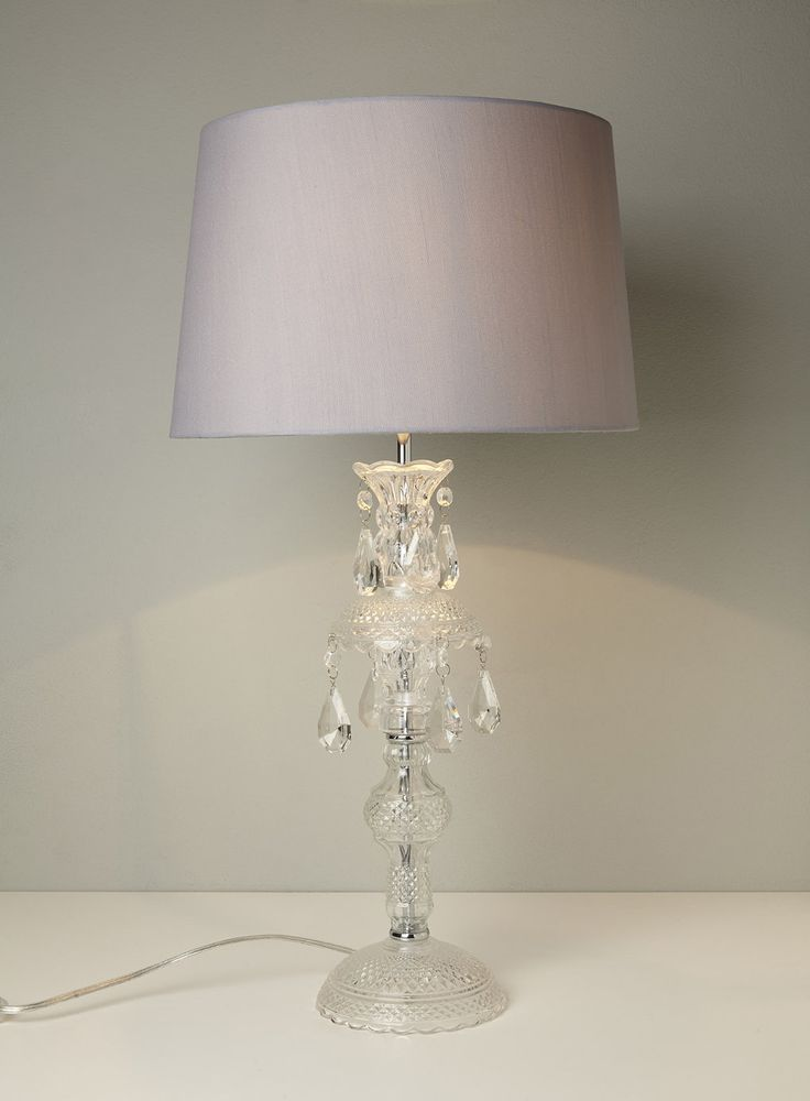 Holly Willoughby Pressed Glass Table Lamp Table Lamps Home Lighting Amp