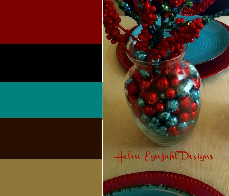 Helen Eynjuhl Holidays Style. Red/Black/Teal/Brown/Gold