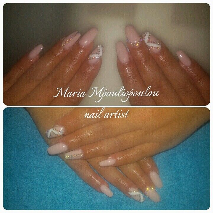 Nude and swarovski