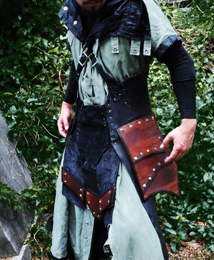 LARP Leather War Kilt Armor. $499.00, via Etsy.