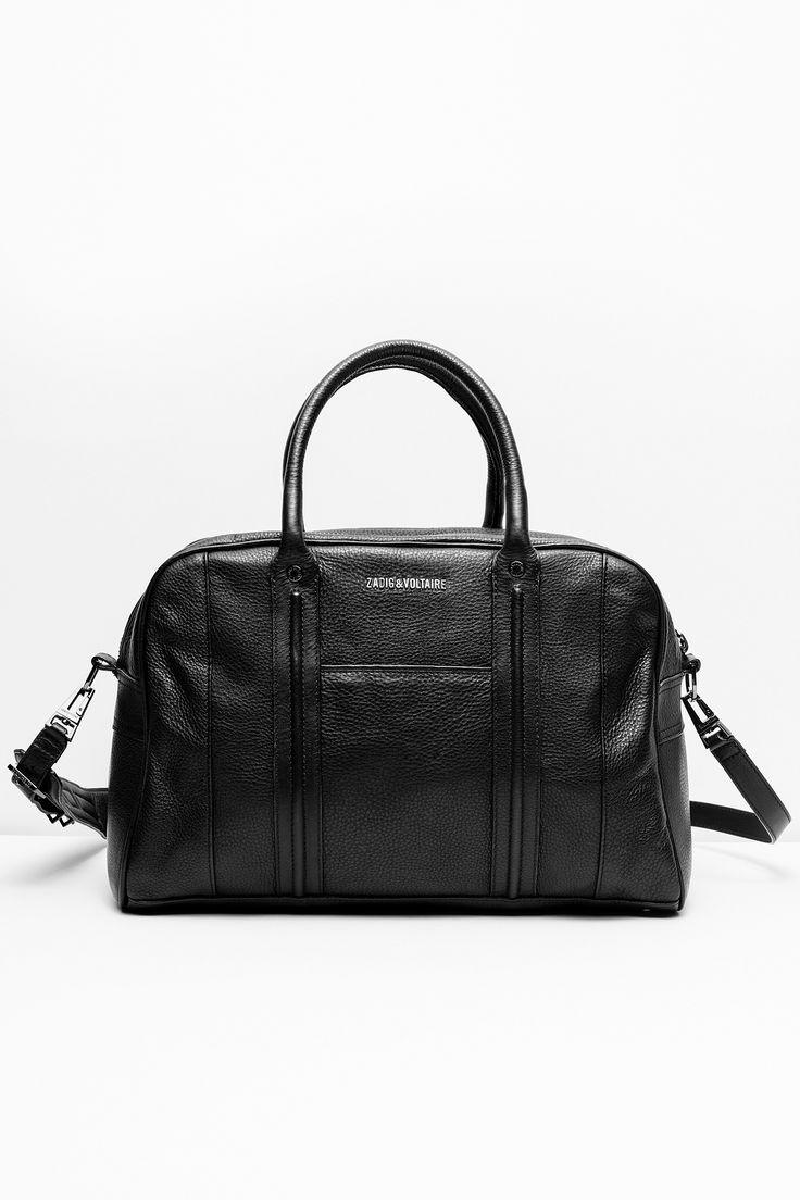 Zadig & Voltaire bowling bag, front pocket, removable shoulder strap, winged…