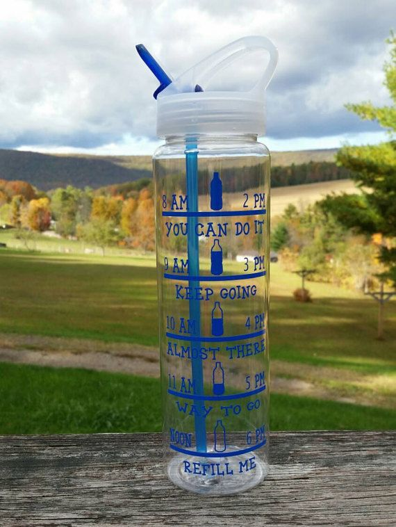 32 ounce Water bottle Water Bottle with times by JLCreations4You