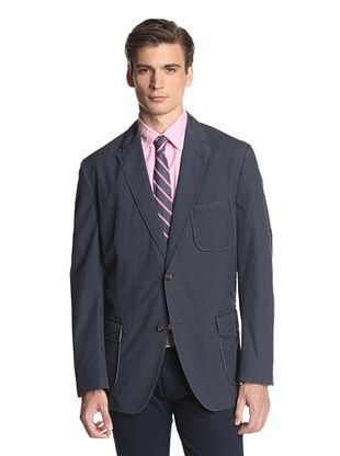 68% OFF Kroon Men's Harrison Two Button Checked Sportcoat (Navy)