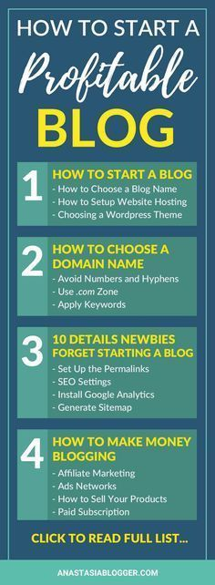How to Start a Blog for Beginners – a series on AnastasiaBlogger.com which will reveal the 10 mistakes most newbies make starting a blog, will teach you to register a domain name, to set up hosting for your blog, and many other essential things for a new