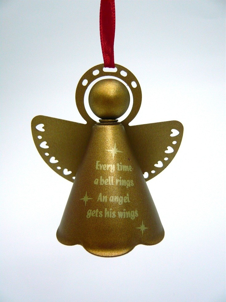 Retrofestive it s a wonderful life brass bell