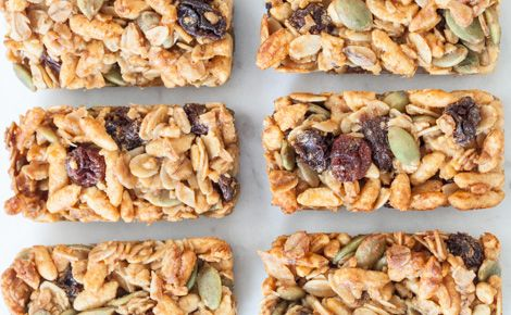 Healthy Granola Bar #recipe I made chewy #gluten free gingerbread spice granola bars by subbing the puffed rice cereal for gf rice krispies & switching the apple pie spice for gingerbread spice.   25 minutes from start to first bite! Yumm!