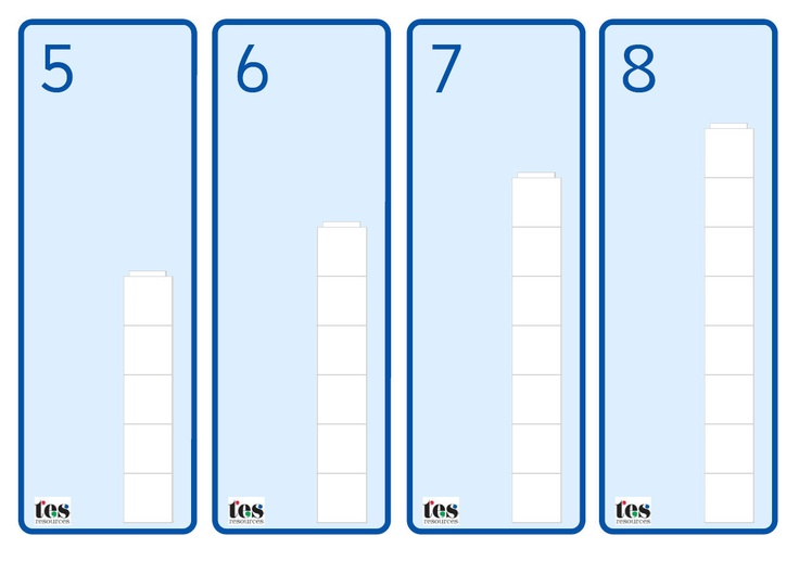 A set of base cards that pupils can use with maths cubes (both Multilink or Unifix) or Duplo. Could be used as an independent activity or with a small group.
