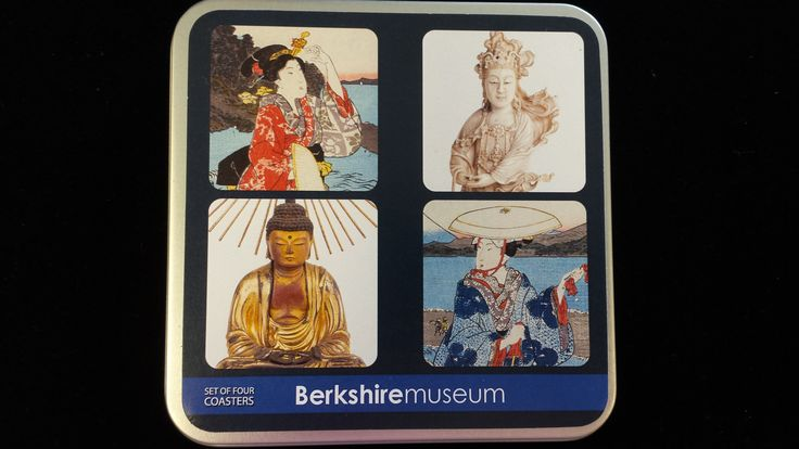"""Asian coaster set from """"Immortal Present"""" summer art exhibition. Available at the Berkshire Museum Shop. #berkshiremuseum #berkshire #museum #asianart #ImmortalPresent"""