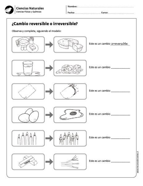 ¿Cambio reversible o irreversible?