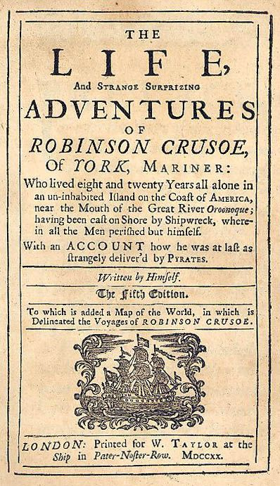 robinson crusoe does get lond-winded sometimes, but it still is a very good book
