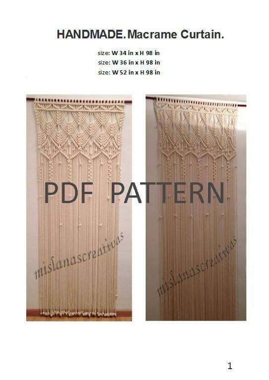 (4) Name: 'Crocheting : PDF Instructions Macrame Curtain.