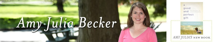 """Amy Julia Becker was one of our guests on our April 30th """"Poiema People"""" program, where she talked about her journey of raising a daughter with Down's Syndrome. She wrote about it in her book """"A Good and Perfect Gift."""""""