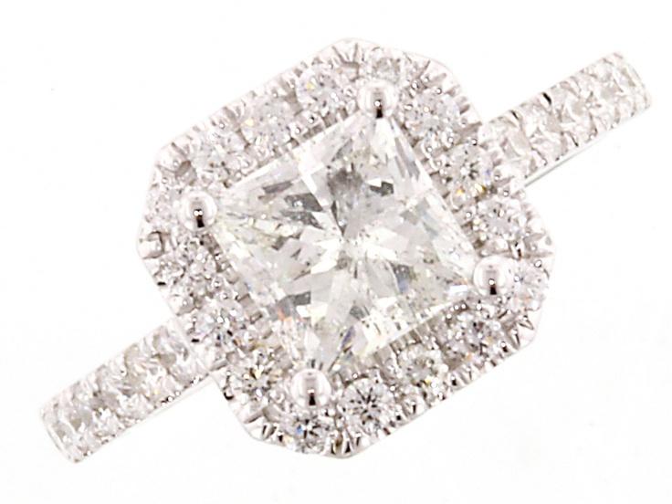 Princess Diamond Halo Ring   engagement rings   Classic   Canadian Jewelry Exchange   Kelowna, B.C.