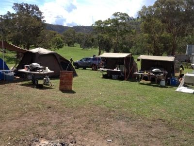http://www.amazonoutdoors.com.au/blog/n/what-a-great-camping-set-up-140325 What a Great Camping Set up! In this photo of their camp site you can see 2 Oztent RV-5 tents set up side by side and on the left is Jet Tent F-25X. On the tables you can see the 2 Weber Q200 BBQs that cooked their meals over the weekend including a whole stack of beautiful pizzas.  Click here for more info http://www.amazonoutdoors.com.au/blog/n/what-a-great-camping-set-up-140325