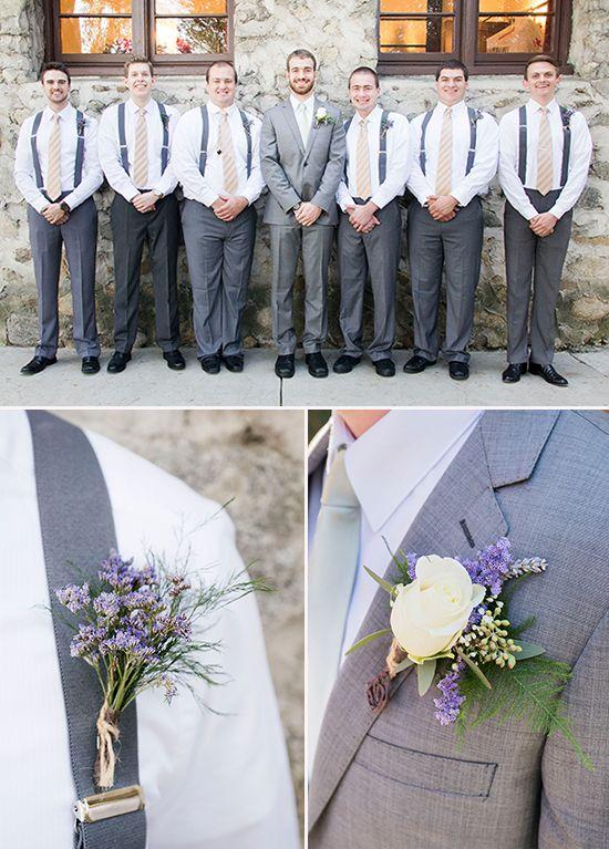 Gray and purple groomsman ideas @weddingchicks
