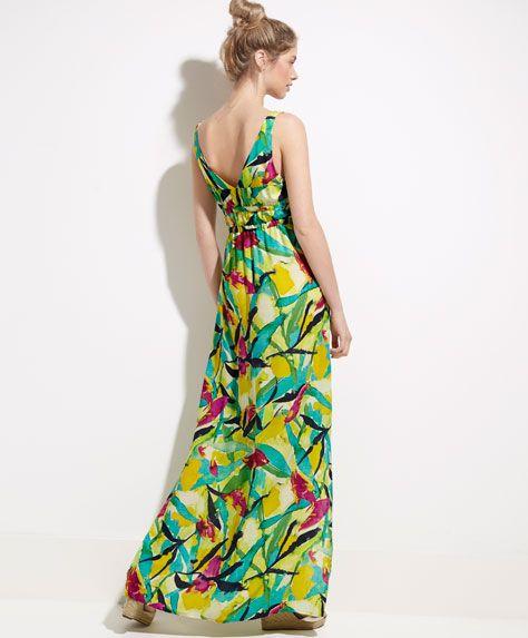 Vestido largo tropical - OYSHO