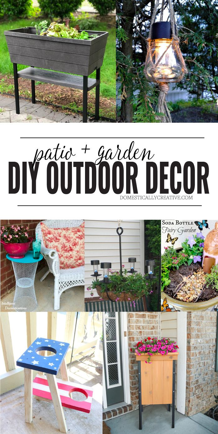 Creative Diy Decor Ideas For Your Garden Or Patio Patio Wall Decor Diy Yard Decor Diy Outdoor Decor