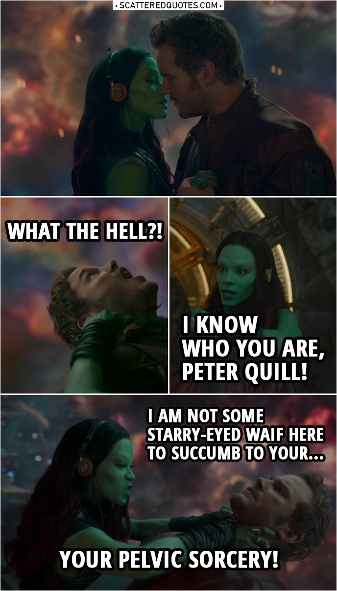40 Best Guardians Of The Galaxy 2014 Quotes You Re Welcome Scattered Quotes Guardians Of The Galaxy Starlord And Gamora Peter Quill