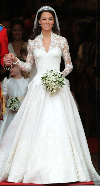 Kate Middleton set the trend for long-sleeved lace dresses: http://www.stylemepretty.com/2015/04/28/the-royal-wedding-review/ | Photography: Getty Images