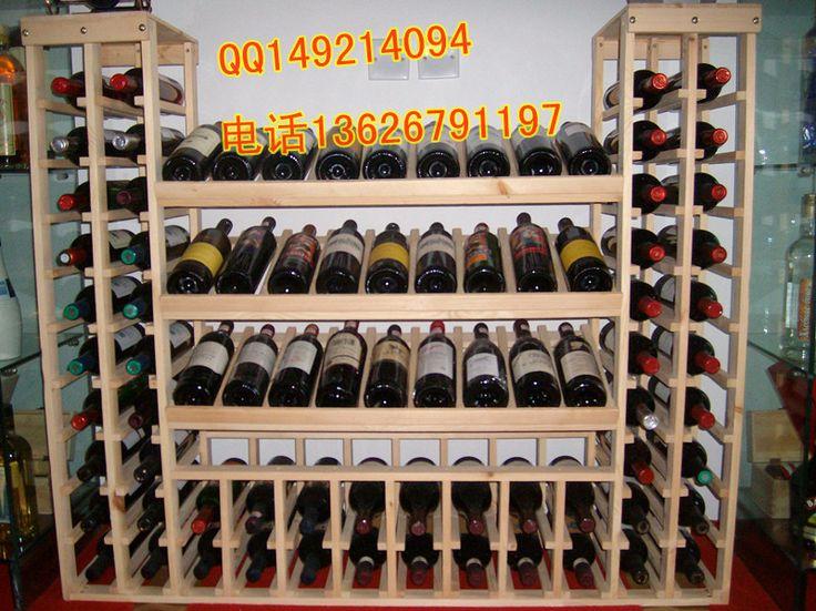 Speciale houten wijnrekken / wijn weer te geven logs / hout wijnrek houten wijnrek kan worden aangepast-$58.33