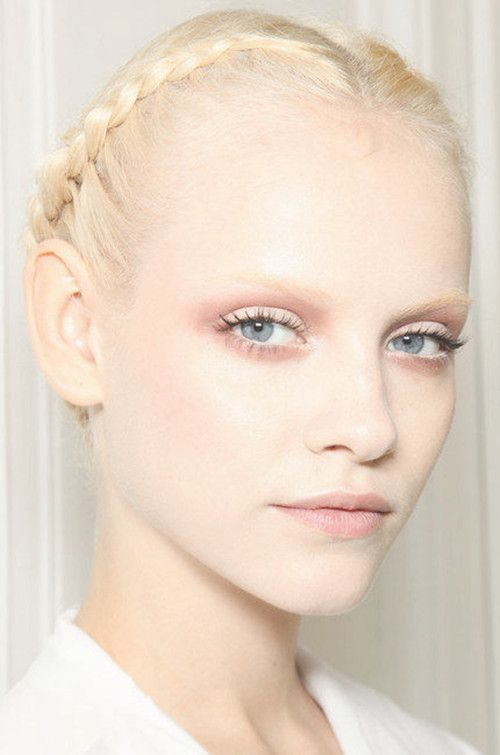 Minimal + Classic: Backstage at Valentino Haute Couture Spring 2011, soft pink accents with pale pink lips