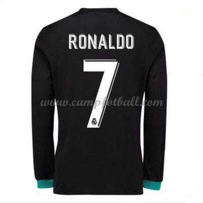 Real Madrid Fotballdrakter 2017-18 Cristiano Ronaldo 7 Bortedrakt Langermet