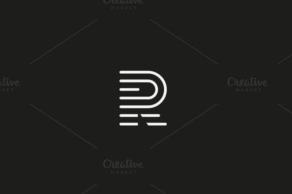 Line letter R logotype