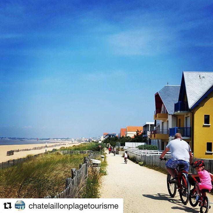 #Repost @chatelaillonplagetourisme ・・・ Un temps idéal pour une balade à vélo sur l'itinéraire de #LaVelodyssee #chatelaillon #velo #bike #biking #riders #CharenteMaritime #coteatlantique #NouvelleAquitaine #France #ilovefrance #holidays #instagood #travel #instatravel