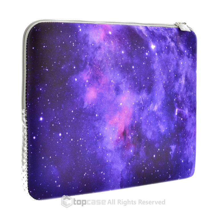"Purple Galaxy Graphic Zipper Sleeve Bag Case for All Laptop 13"" 13-inch Macbook Pro with or without Retina Display / Macbook Air / Macbook Unibody / Ultrabook / Chromebook"